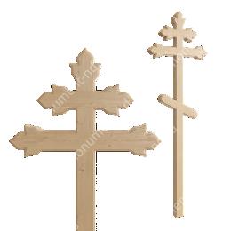 Деревянный крест на могилу ДкС - 013 сосна 210х90х5 см