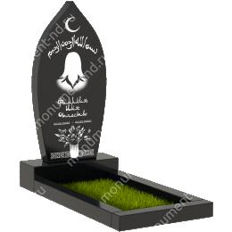 Мусульманский памятник М - 21 цвет черный 100*50*5