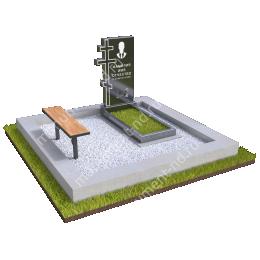 """Мемориальный комплекс Ц - 042 """"Под ключ"""" 200х180 см"""