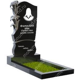 ПБ-27 Памятник с барельефом гранит габбро цвет черный 120*60*8