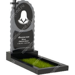 Памятник с крестом K-034 гранит габбро цвет черный 100*50*5