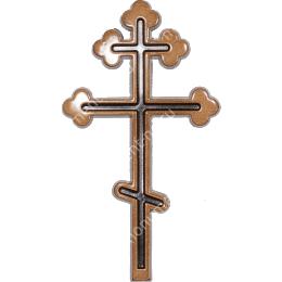 Декор для памятника-010 полимергранит цвет бронза/серебро 20х11 см