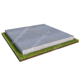 Бетонный цоколь на могилу полный подиум БЦПП-003 # 200х180 см