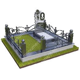 """Мемориальный комплекс Ц - 090 """"Под ключ"""" 200х180 см"""