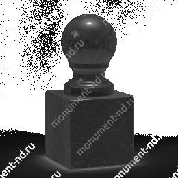 Шар из гранита Ш-014 гранит цвет чёрный/красный/серый от ø 10 см