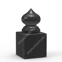 Шар из гранита Ш-020 гранит цвет чёрный/красный/серый от ø 10 см