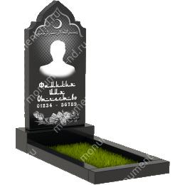 Мусульманский памятник М-005 цвет черный 100*50*5
