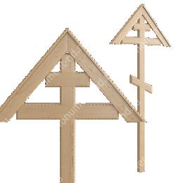 Деревянный крест на могилу ДкС - 011 сосна 210х90х5 см