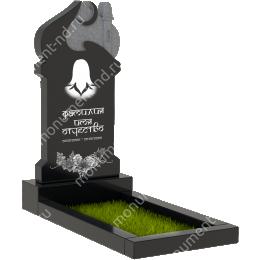 ПБ-88 Памятник с барельефом гранит габбро цвет черный 100*50*8