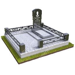 """Мемориальный комплекс Ц - 031 """"Под ключ"""" 200х180 см"""