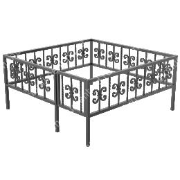 Кованая ограда К-31 200х180 см