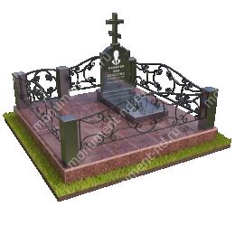 """Мемориальный комплекс Ц - 017 """"Под ключ"""" 200х180 см"""