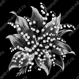Гравировка цветы Цв-051 32 х12 / ≤ 40х60 см