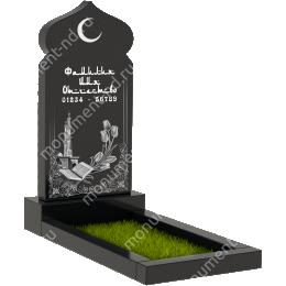 Мусульманский памятник М-006 цвет черный 100*50*5