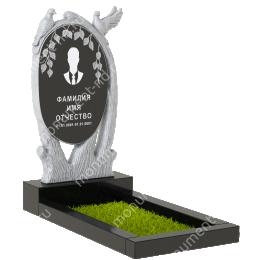 ПБ-87 Памятник с барельефом гранит габбро цвет черный 120*60*8