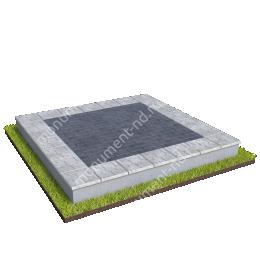 Бетонный цоколь на могилу БЦ-001_6 # 200х180 см