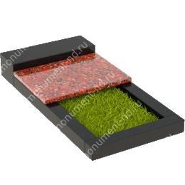 Накладная плита на цветник Цвт-004 цвет 4 варианта 3х60х50 см.