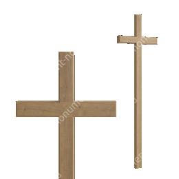 Деревянный крест на могилу ДкД - 003 дуб 210х70х5 см