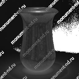 Ваза на могилу из гранита-014 гранит цвет черный 30х20 см