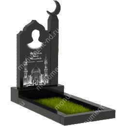 Мусульманский памятник М - 25 цвет черный 100*50*5