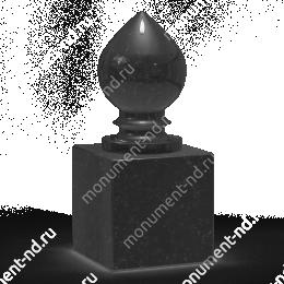 Шар из гранита Ш-016 гранит цвет чёрный/красный/серый от ø 10 см