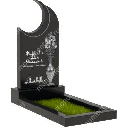 Мусульманский памятник М - 22 цвет черный 100*50*5