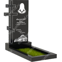 Памятник с крестом K-032 гранит габбро 100*50*5