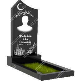 Мусульманский памятник М-004 цвет черный 100*50*5