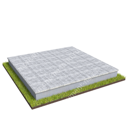 Бетонный цоколь на могилу полный подиум БЦПП-003_3 # 200х180 см