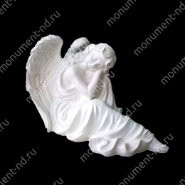 Ангел на памятник А-036 полимергранит цвет белый/бронза 48х57х29 см.