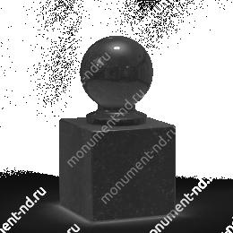Шар из гранита Ш-015 гранит цвет чёрный/красный/серый от ø 10 см
