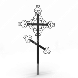 Крест на могилу Кр-014   металл 200х70 см