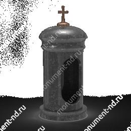 Лампада на могилу-007 гранит цвет черный 35х15 см