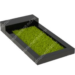 Цветник на могилу Цвт-001  гранит цвет чёрный 100х50х8 см