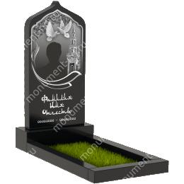 Мусульманский памятник М-013 цвет черный 100*50*5