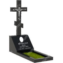 Памятник с крестом K-031 гранит габбро цвет черный 50*50*40