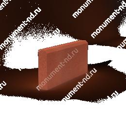 Бордюр на могилу Б-004 Размер:21х50х4 цвет красный 200х180 см.