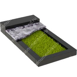 Накладная плита на цветник Цвт-005 цвет 4 варианта все внешние стороны