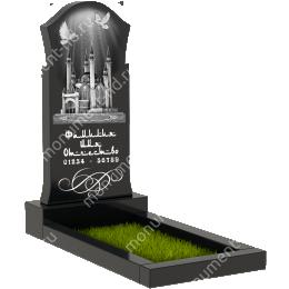 Мусульманский памятник М-008 гранит цвет черный 100*50*5