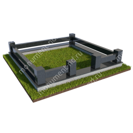 Гранитная ограда ГО-018 200х180 см.
