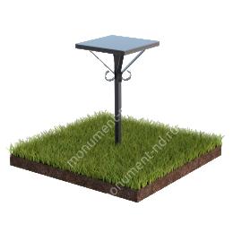 Столик на могилу Л-001 130х40х40 см.