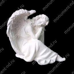 Ангел на памятник А-022 полимергранит цвет белый/бронза 22(10х24) см.