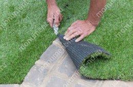 Озеленение на могилу искусственное полипропилен цвет зелёный 1 кв.м.