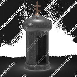 Лампада на могилу-005 гранит цвет черный 35х15 см
