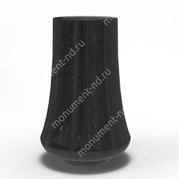 Ваза на могилу из гранита-020 гранит цвет черный/красный/серый 30х15 см