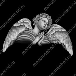 Гравировка ангела А-012 от 25х25 см