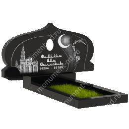 Мусульманский памятник М -033 цвет черный 100*50*5