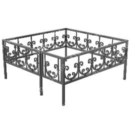 Кованая ограда K-44 200х180 см