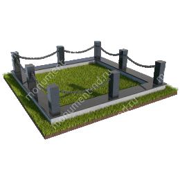 Гранитная ограда ГО-032 200х180 см.