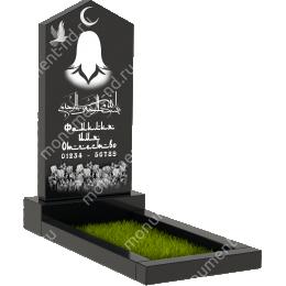Мусульманский памятник М-009 цвет черный 100*50*5